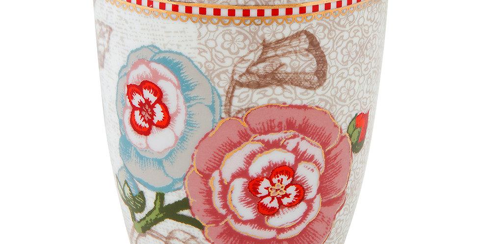 porta escova dentes off white porcelana holandesa