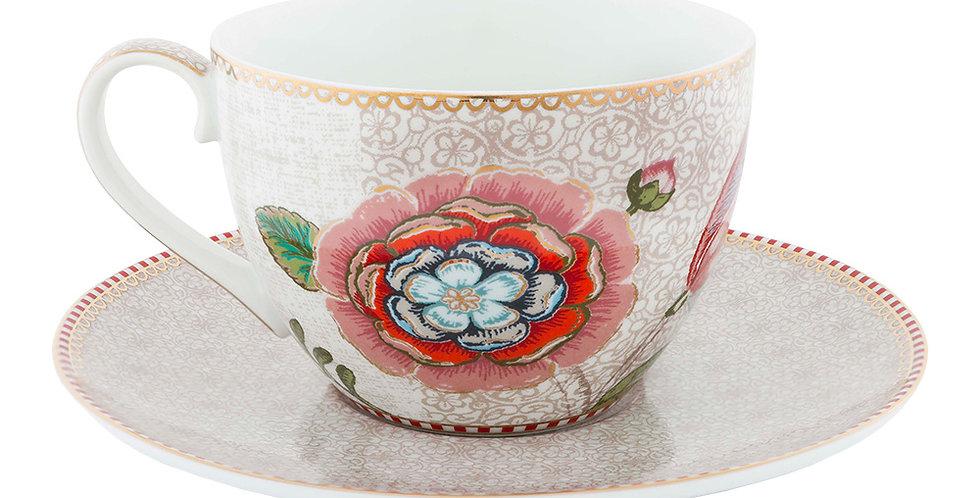 Xícara Chá Off White Spring to Life
