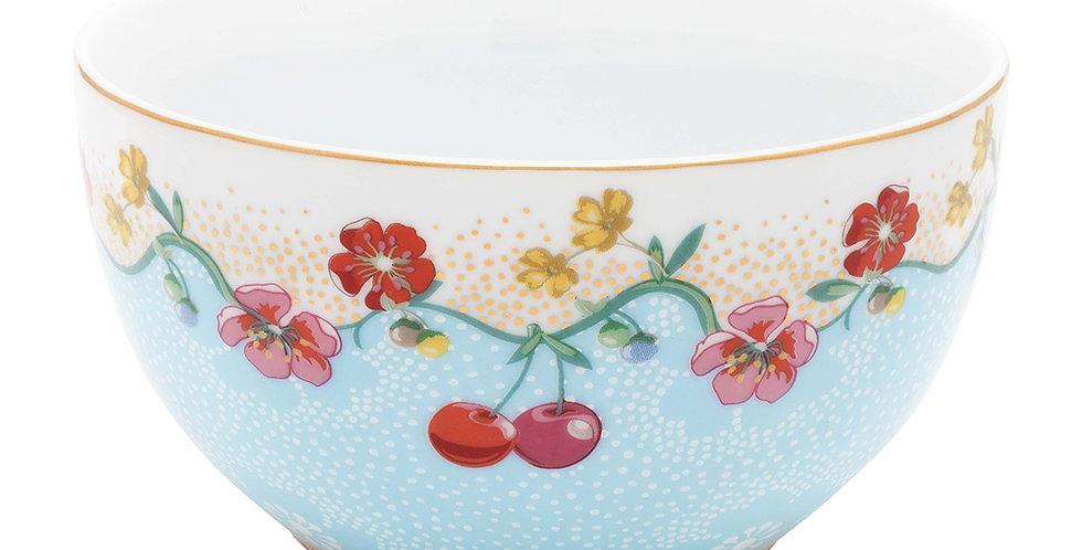 tigela cherry floral azul porcelana