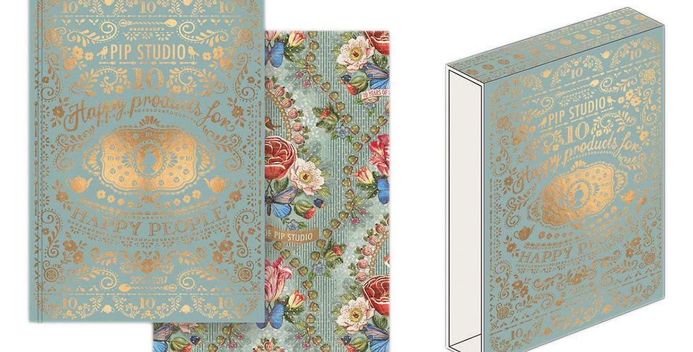 Set cadernos A5 com caixa decorativa presente pip studio 10 anos