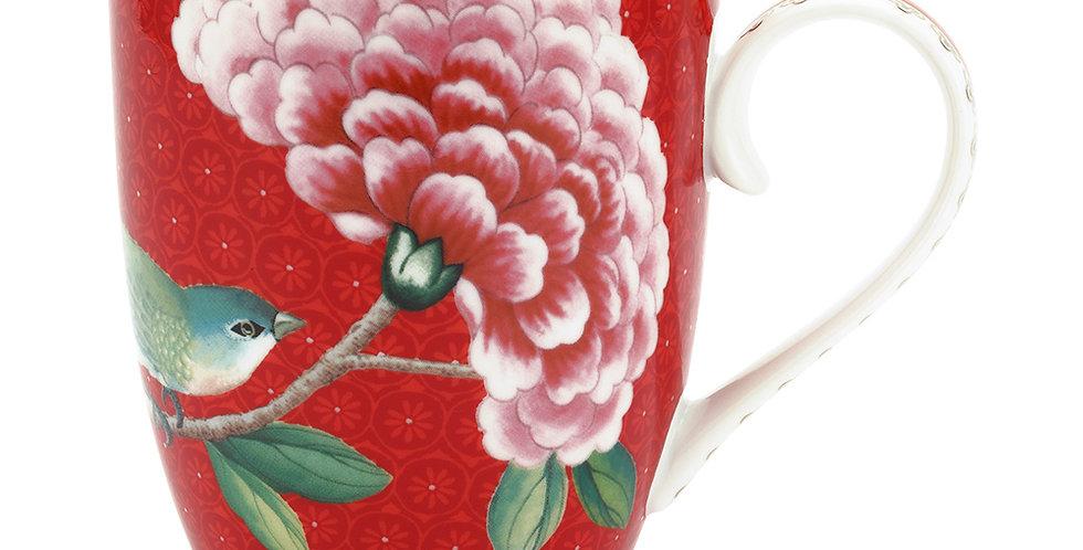 Caneca Grande Vermelho - Blushing Birds