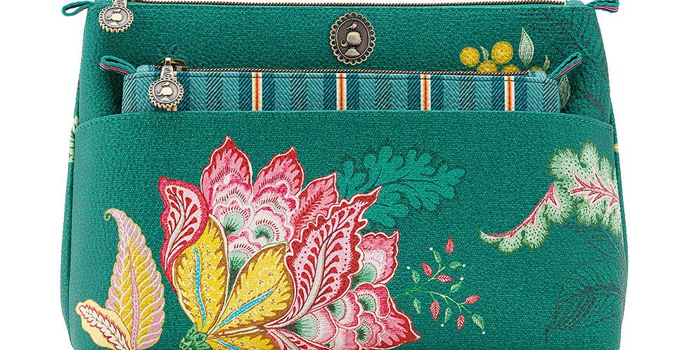 Set/2 Necessaire Combi Jambo Flower Verde - Moon Delight
