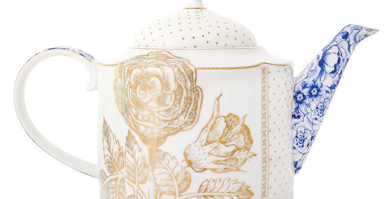 Bule Royal White Porcelana Holandesa