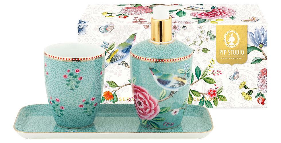 Caixa com porcelanas para banheiro presente decoração