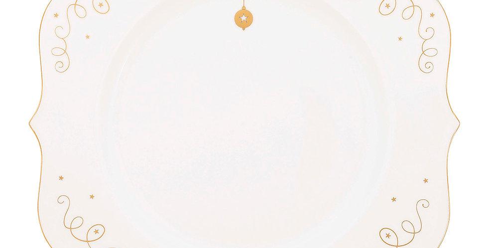 Prato de Jantar Linha Natal Pip Studio Decoração Fio de Ouro