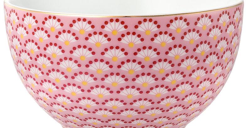 Tigela Rosa Floral Fantasy Pequena Bowl Porcelana