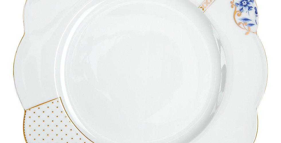 Prato de Jantar Flowers - Royal White