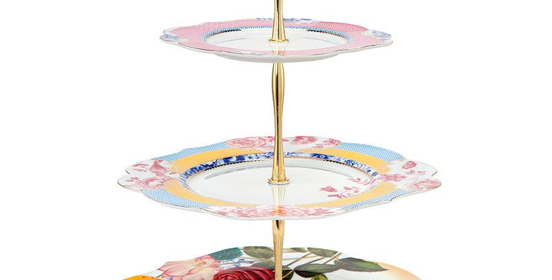 Prato para Doces Royal Porcelana Flores Decorada