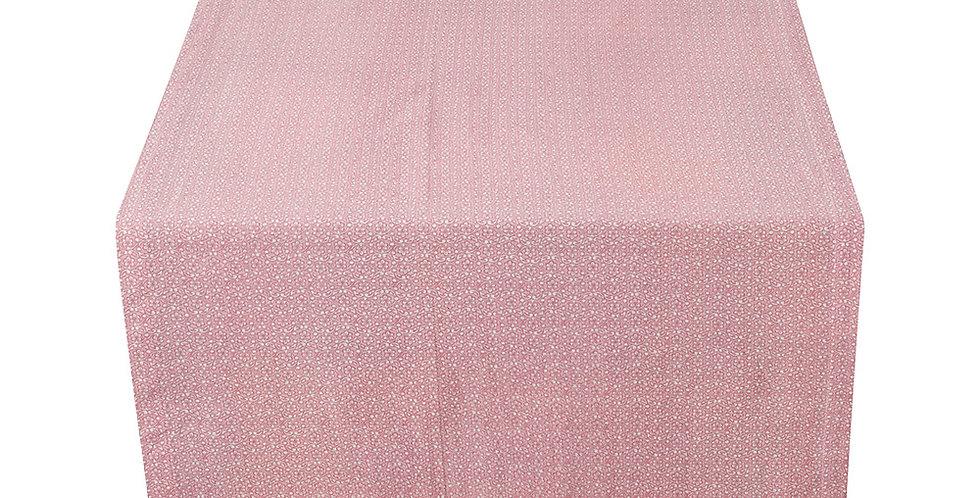 toalha trilho corredor mesa tecido rosa decoração