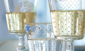 cristaleira pip studio copos taças cálices jarras vidro dourado ouro