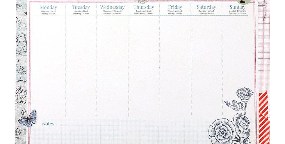 organizador de mesa risque rabisque papelaria calendário