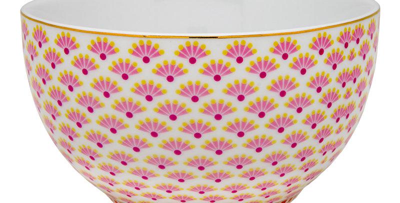 Tigela Decorada Floral Fantasy Porcelana Louça