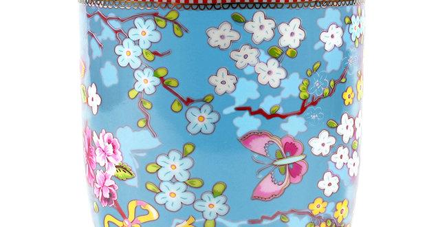 Pote com tampa Chinese Azul Floral Porcelana Holandesa