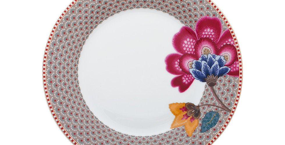Prato de Sobremesa Cáqui - Floral Fantasy