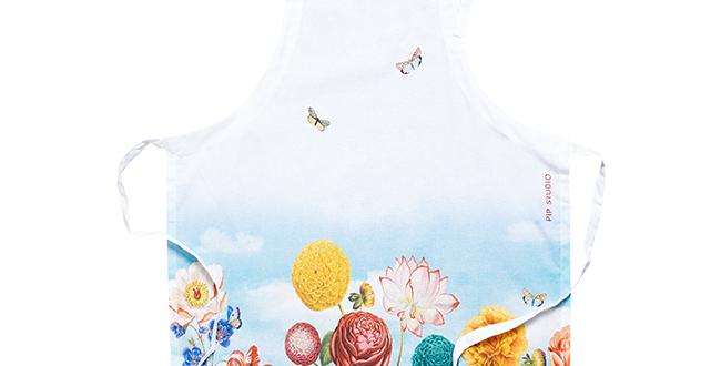 avental decorado flores cozinha charme
