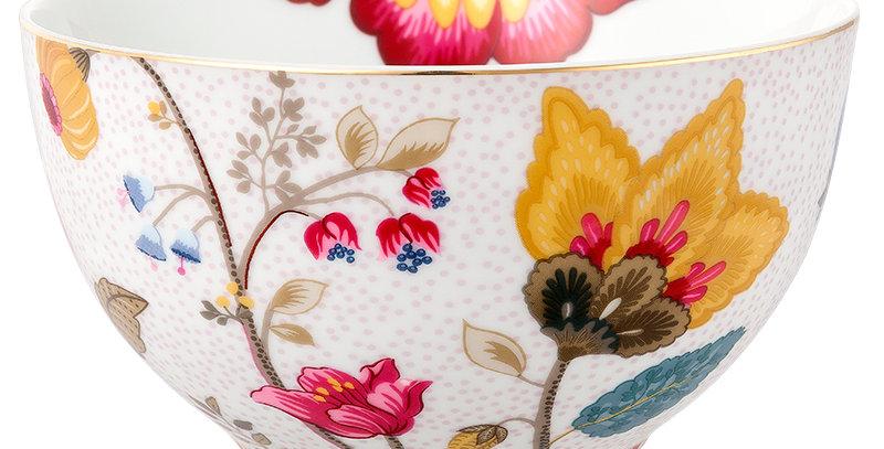 Tigela Branca Floral Fantasy Porcelana Flores