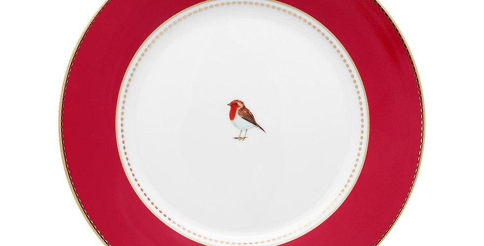 Prato de Sobremesa Vermelho - Love Birds