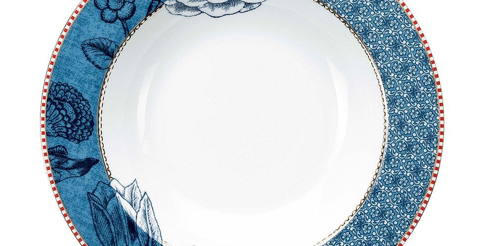 Prato fundo de sopa aparelho de jantar porcelana decorada