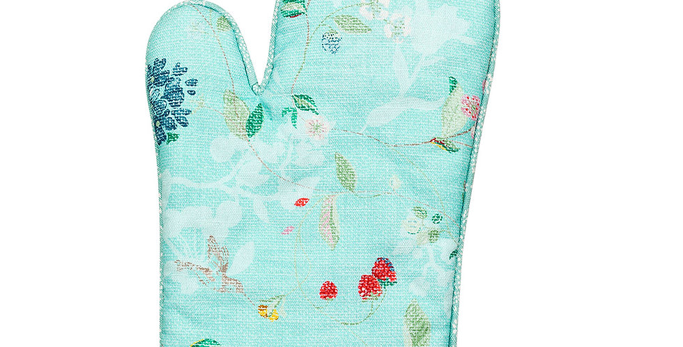 Luva de Forno Azul Com detalhes Flores Pip Studio