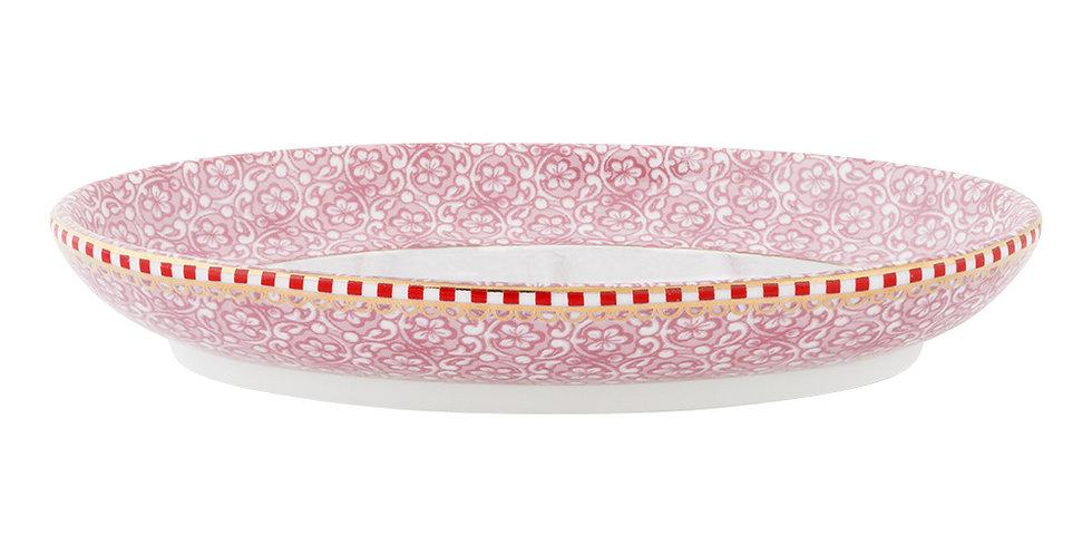 saboneteira rosa spring to life porcelana decorada