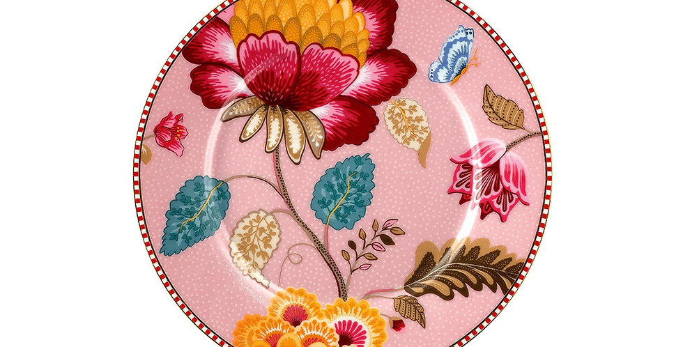 Prato de Pão Rosa - Floral Fantasy