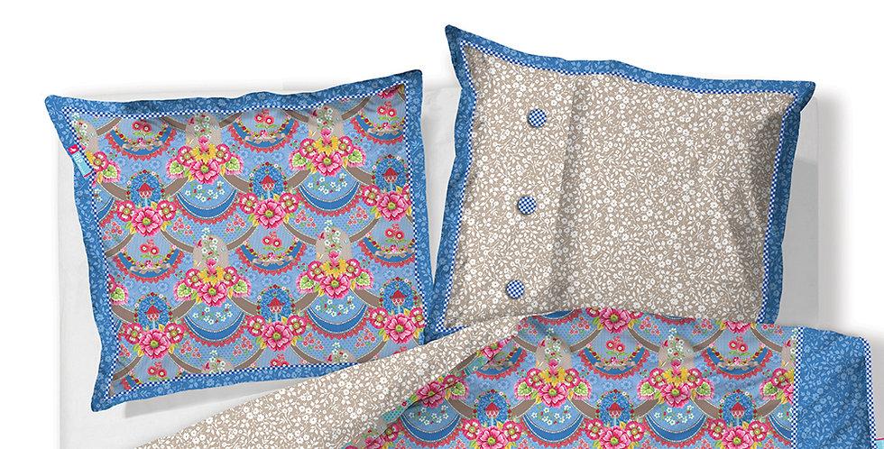 Capa de Travesseiro Avulsa Azul Pip Studio