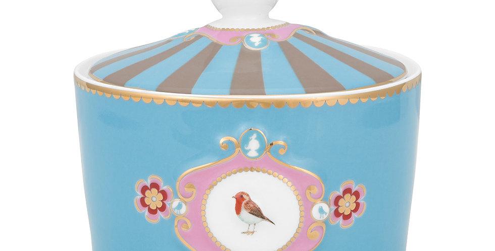 Açucareiro Medallion Azul - Love Birds