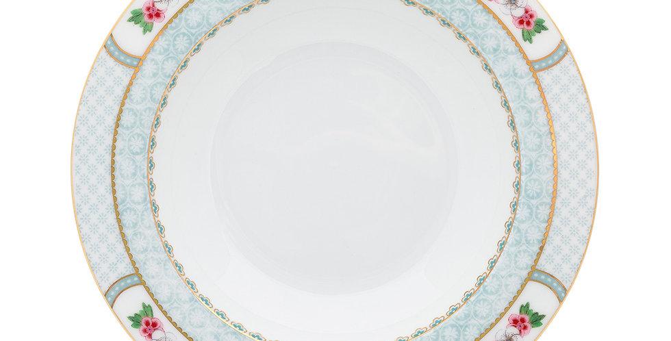 Prato de Sopa Branco - Blushing Birds