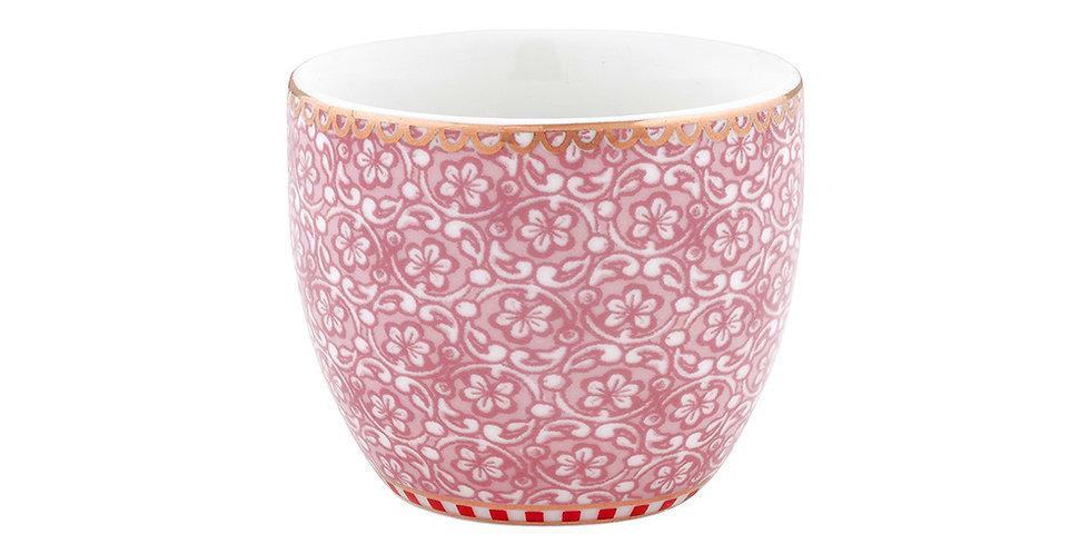 Xícara para ovo em porcelana holandesa decorada dom detalhes