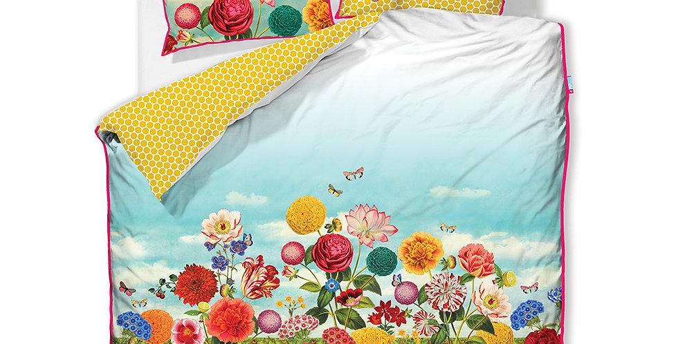Kit Capa de Edredom Estampado Decorado Flores