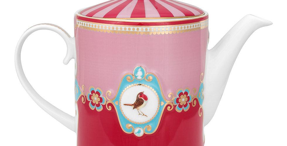 Bule Medallion Rosa/Vermelho - Love Birds