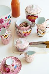 coleção floral fantasy bloomingtales florido porcelanas de luxo pip studio aparelho de jantar chá