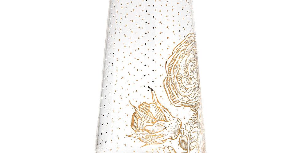 Jarro Royal Vidro Decorado Dourado Pip Studio