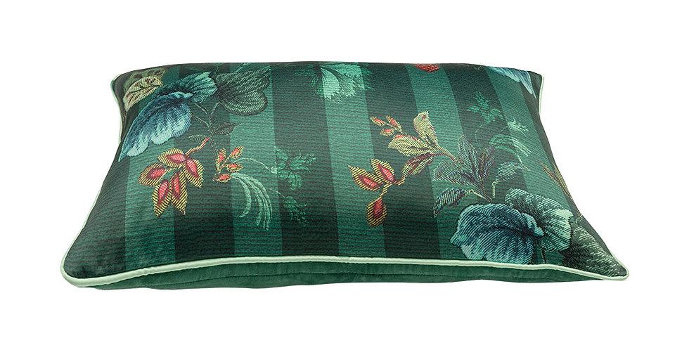 Almofada Leafy Stitch Verde - Blushing Birds