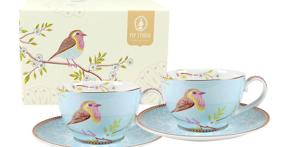 Set/2 Xícara de Chá Azul - Early Bird