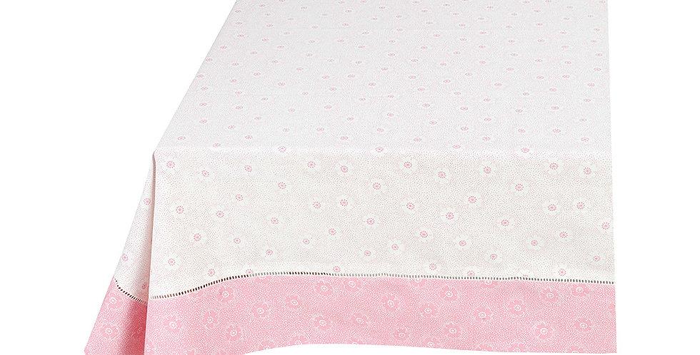 Toalha de mesa com detalhe em rosa pip studio