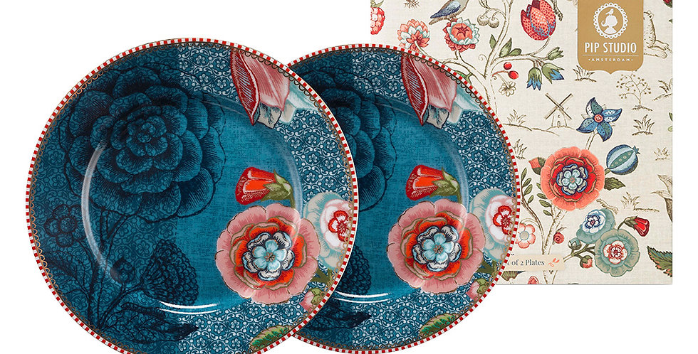 Set Presente Porcelana Holandesa Prato Pão Aparelho Jantar