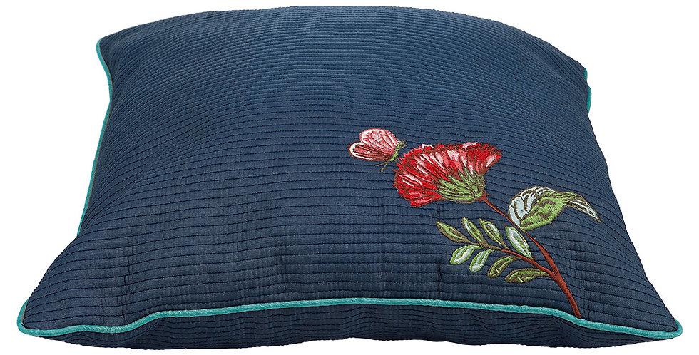 almofada bordada flores azul spring to life decoração