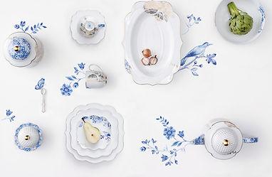 coleção royal white elegante clean clássica porcelanas de luxo pip studio aparelho de jantar chá