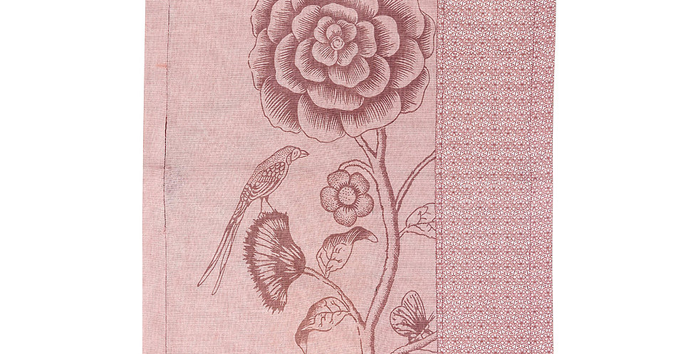 toalha de chá rosa tecido flor decorada
