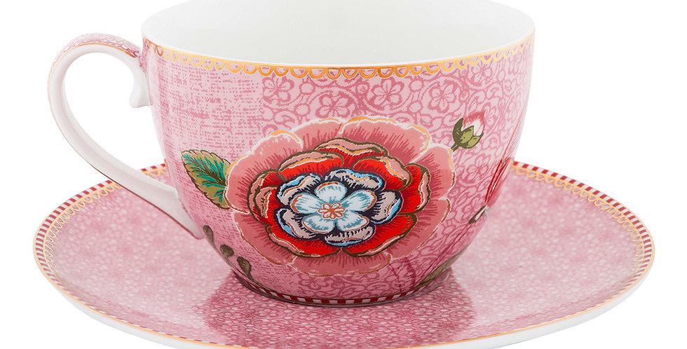 Xícara Chá Rosa Spring to Life