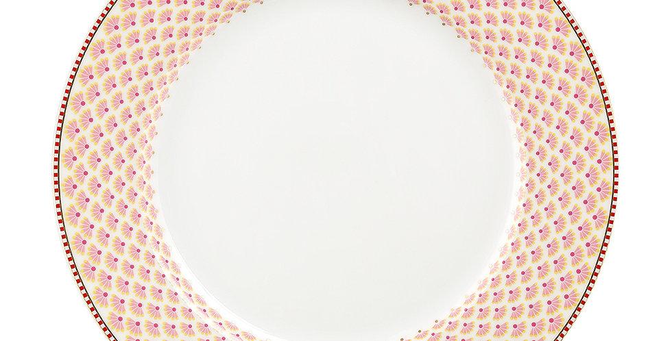 Prato de Jantar Branco - Floral Fantasy