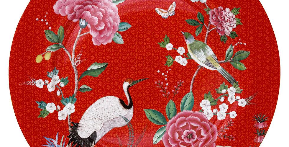 Prato Sousplat Vermelho - Blushing Birds