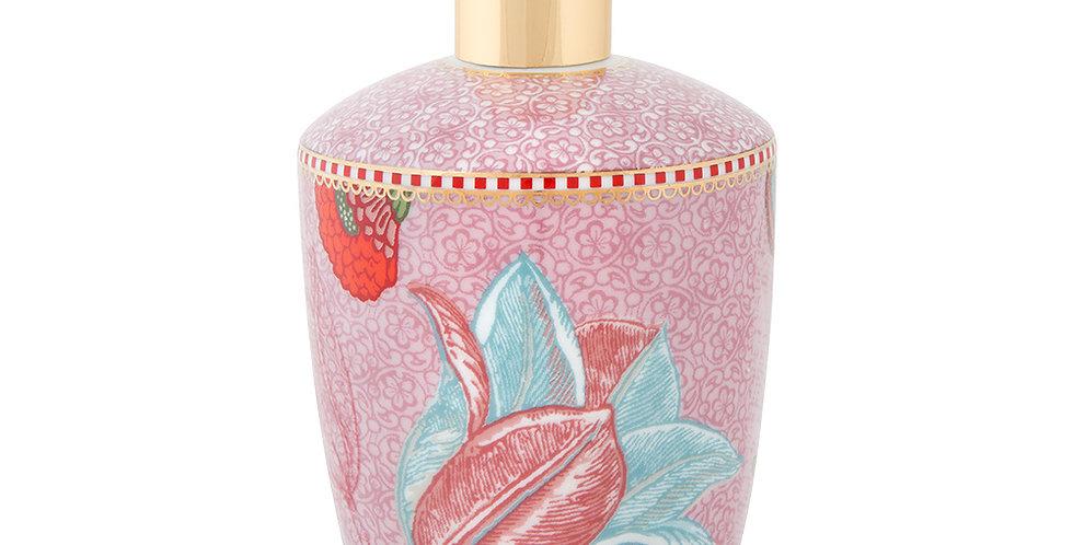 saboneteira liquida rosa banheiro porcelana