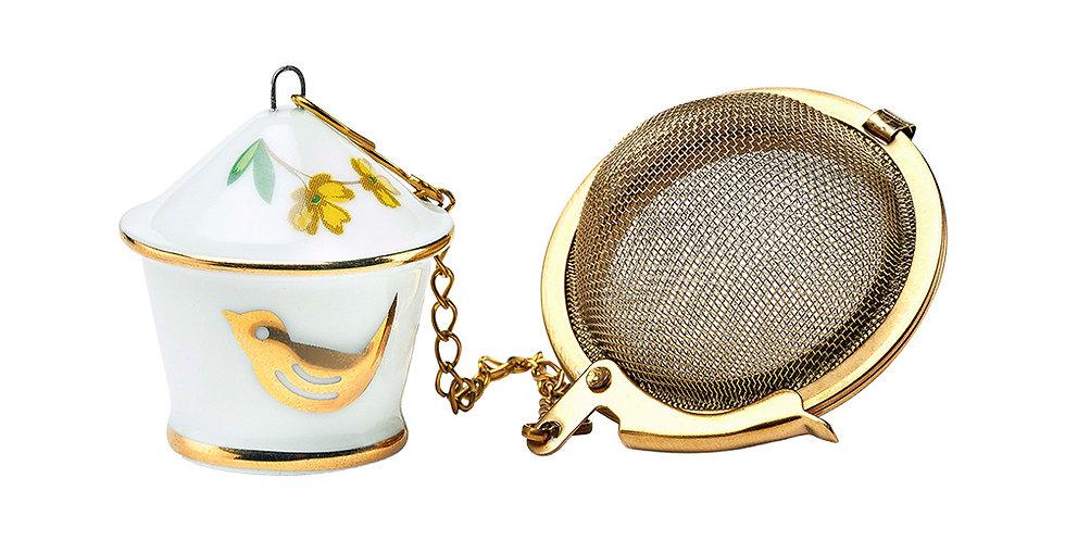 Infusor de chá passarinho porcelana pip studio