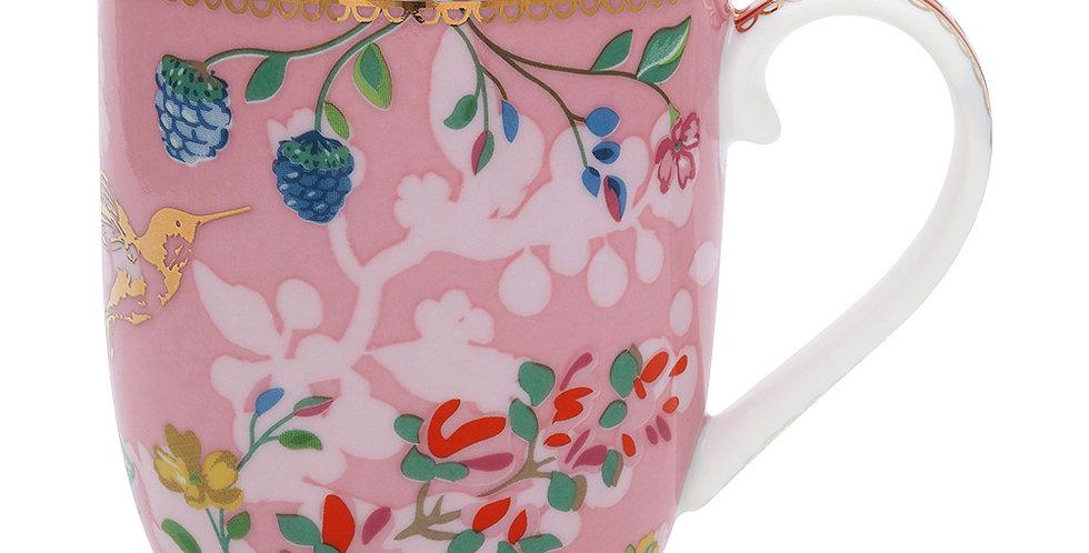 Caneca Pequena Rosa Porcelana Presente Floral Nova