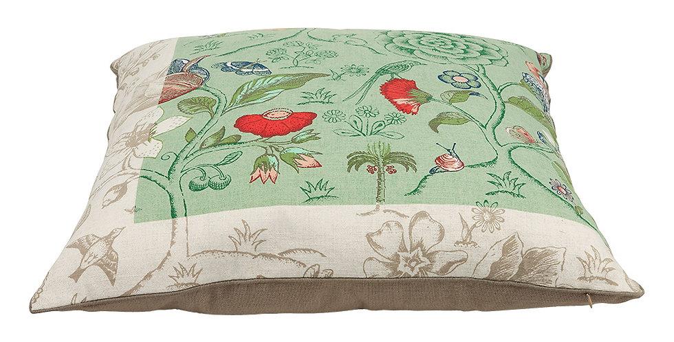 almofada verde spring to life flores decoradas