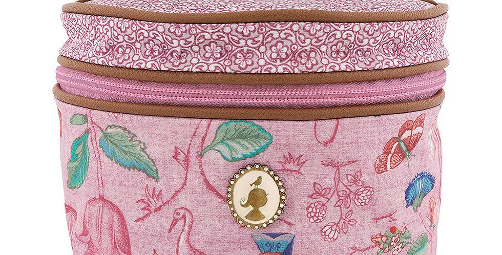 frasqueira média rosa spring to life decoração flores