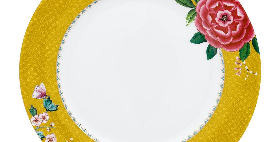 Prato de Jantar Amarelo - Blushing Birds