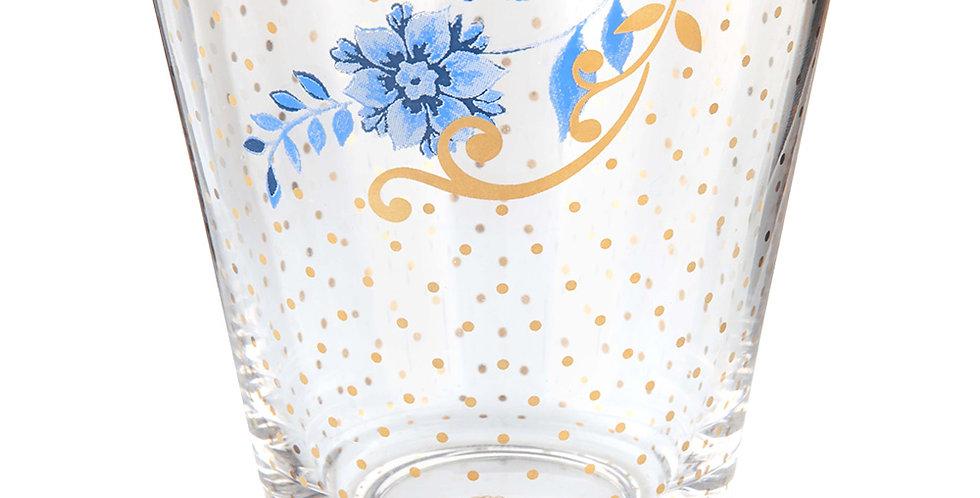 Copo para Água Royal Decorado Desenhos Dourados